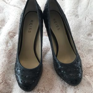 Reiss black leather pumps size 8.5